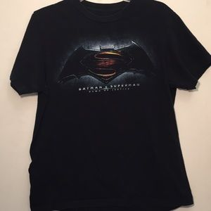 Batman Superman Men's Black T Shirt Dawn Justice S